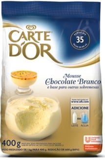 Mousse de Chocolate Branco Carte D'Or 400g