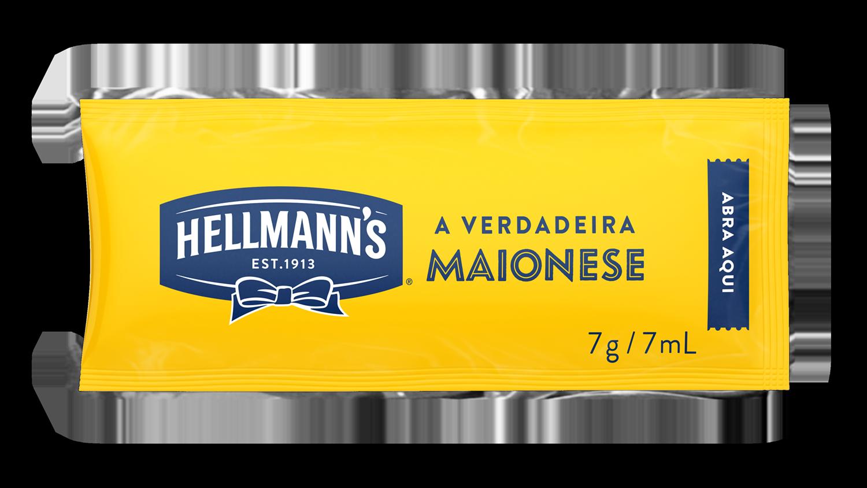 Maionese Hellmann's - Sachê 7g - Hellmann's dá um sabor especial aos seus pratos e melhora a imagem do seu restaurante.