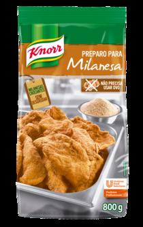 Preparo para Milanesa Knorr 800 g - Preparo para Milanesa Knorr: qualidade com mais praticidade na sua receita.