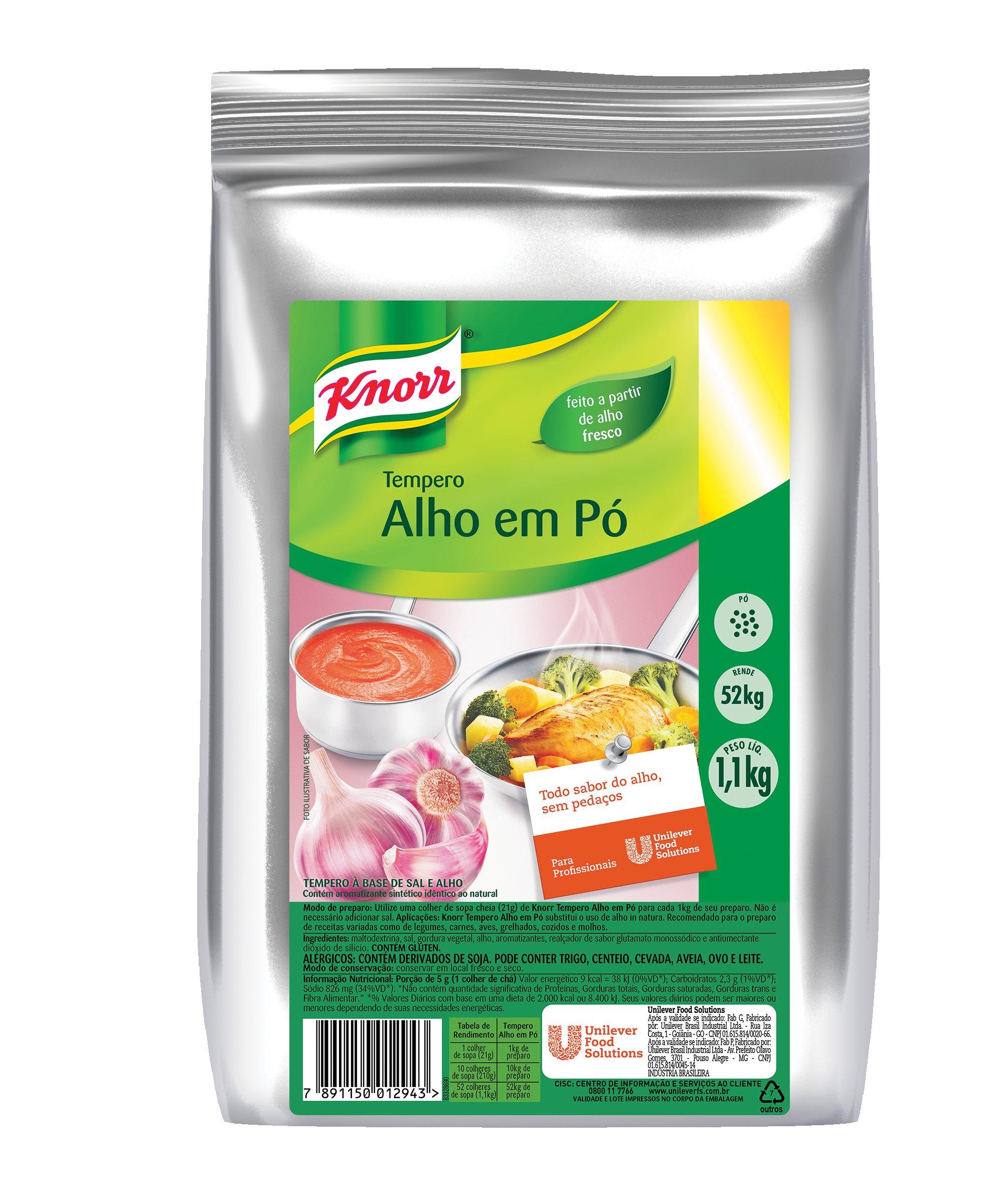 Tempero Alho em Pó Knorr 1,1 kg -