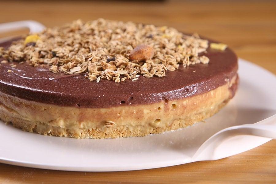 Torta de banana e açaí
