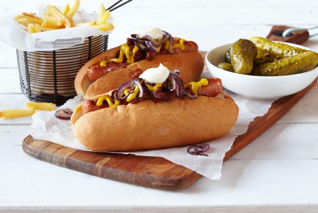Hot Dog com cebola roxa