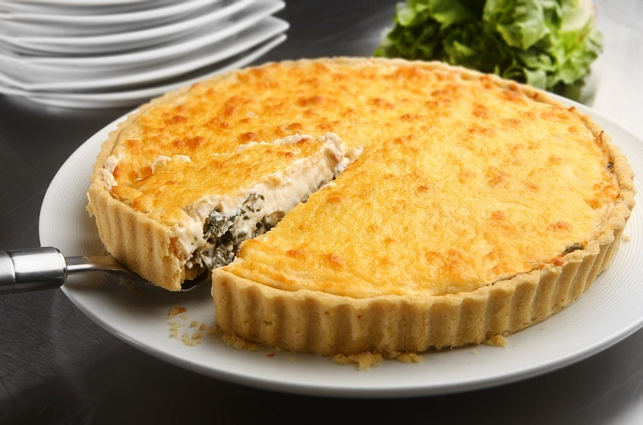 Quiche de Escarola com Bacon